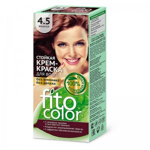 Farba-krem do włosów MAHOŃ 4.5 - fito color - 115ml