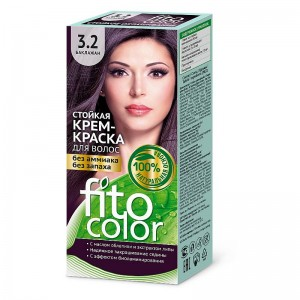 Farba-krem do włosów BAKŁAŻAN 3.2 - fito color - 115ml